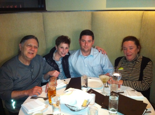 The Kramers at dinner (Feb 2013)