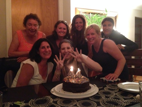 Celebrating 44 (just two weeks before she left us) with Tammy, Amanda, Jodi, Debbie, Tanya and Shana.
