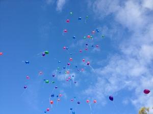 Ballon release on Shiva