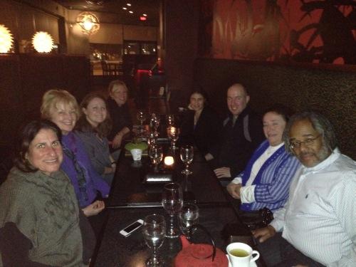 Tammy's Birthday Dinner (Jan 2015) - Amanda, Barbara, Jodi, Tanya, Shana, Ashby, Tammy, Reggie