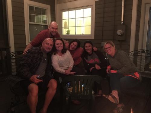 Sept 2016 Bonfire (L-R) Danny, Ashby, Jodi, Amanda, Shana, Tanya